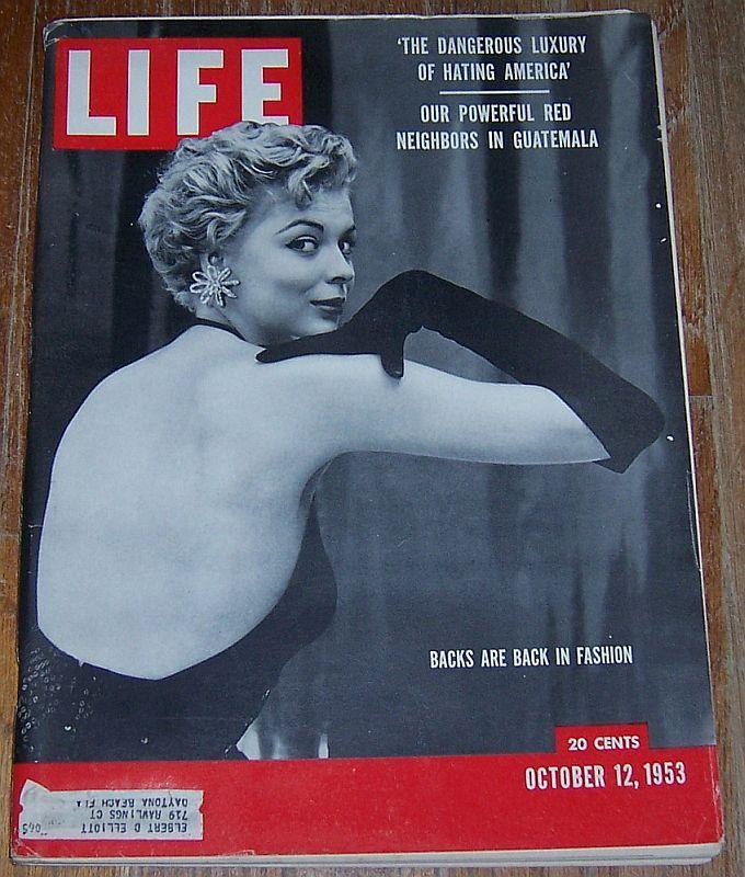 Life Magazine October 12, 1953 Backs in Fashion Cover/Shenandoah/Football/Flying