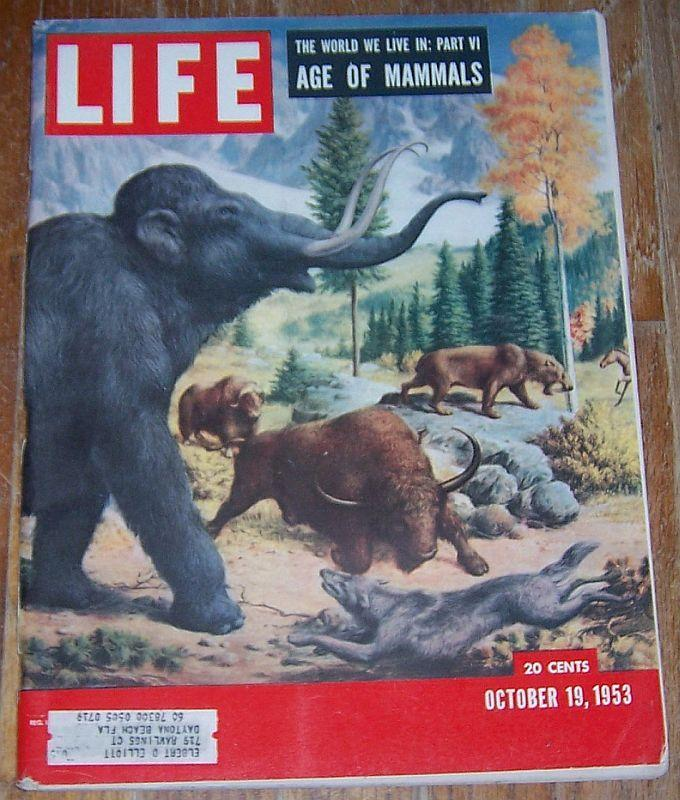 Life Magazine October 19, 1953 Age of Mammals Cover/Aviation/Jackie Gleason