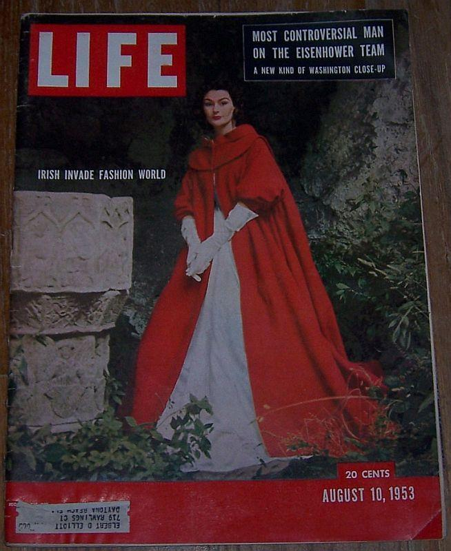 Life Magazine August 10, 1953 Irish Fashions/Korea/Oregon/Europe/Bicycles