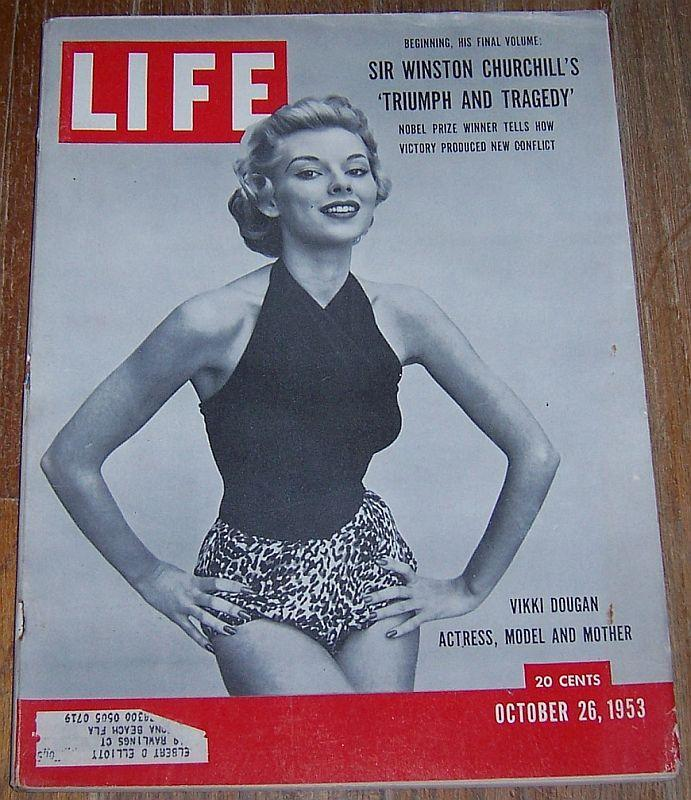 Life Magazine October 26 1953 Vikki Dougan Cover/Churchill/Elgin Marbles/Harvard