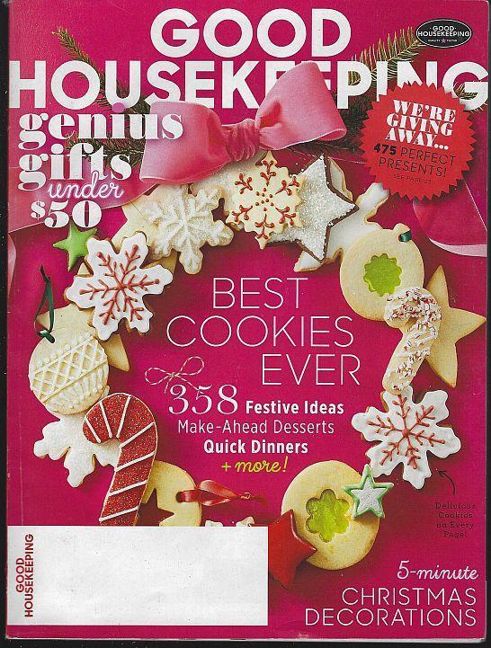 Good Housekeeping Magazine December 2016 Best Cookies Ever Decorations