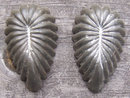 Vintage Set of Two Small Metal Kitchenware Leaf Molds