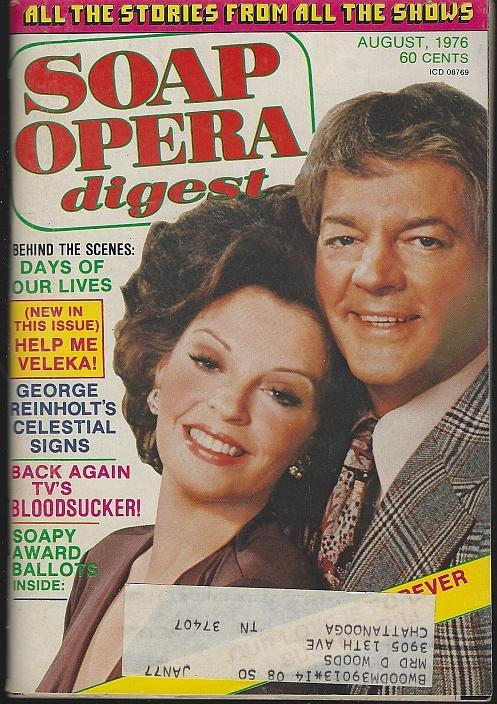 Soap Opera Digest August 1976 Susan Bill Hayes Cover/Irene Dailey/Dark Shadows