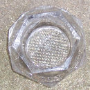 Vintage Hexagon Sided Open Master Salt in Clear Glass