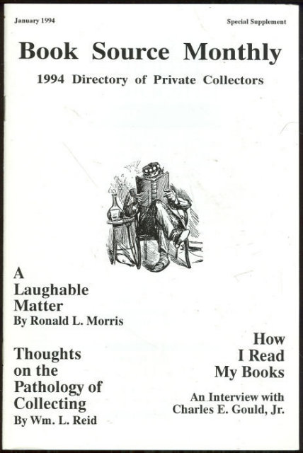Book Source Monthly Magazine January 1994 Collecting