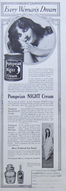 Pompeian Night Cream 1917 Magazine Advertisement
