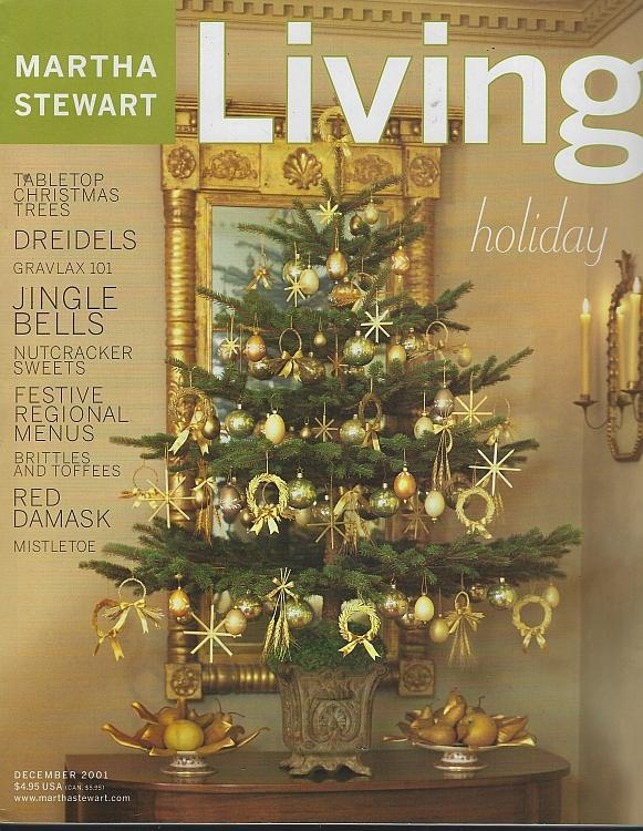 Martha Stewart Living December 2001 Four American Holiday Menus