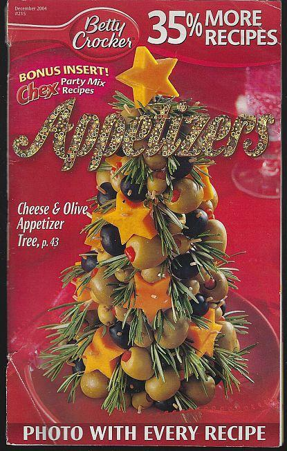Betty Crocker Appetizers December 2004 Holiday Recipes Cookbook Illustrated