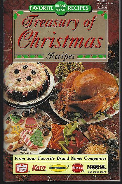 Favorite Brand Names Treasury of Christmas Recipes 1993 Appetizers/Sides/Cookies