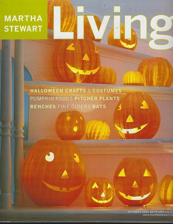 Martha Stewart Living October 2001 Pumpkins/Halloween/Bats/Potato/Pitcher Plants