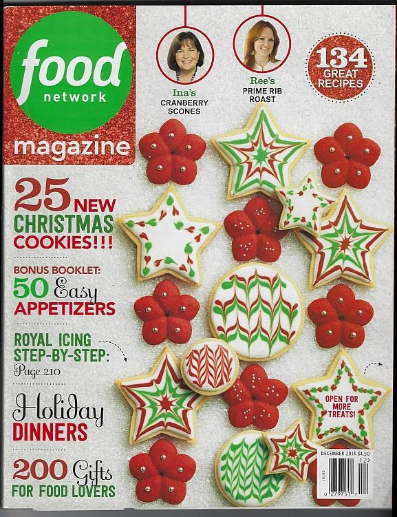 Food Network Magazine December 2014 Gifts for Foodies/Favorite Cookbooks/Cheese
