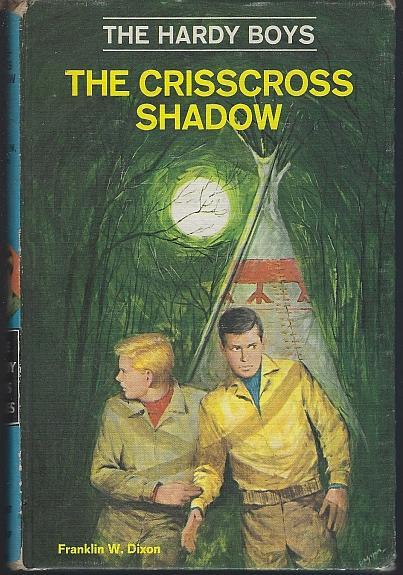 Crisscross Shadow by Franklin Dixon Hardy Boys Series #32 1969 Matte Blue Cover