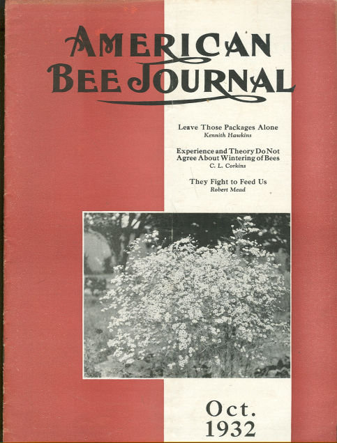 American Bee Journal October 1932 Honey Cream on Sale