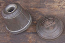 Antique Round Pudding Mold With Lid and Handle
