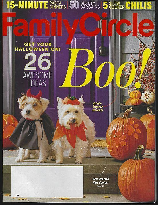 Family Circle Magazine October 2016 Boo Cover/Halloween/Pasta/Candy Desserts