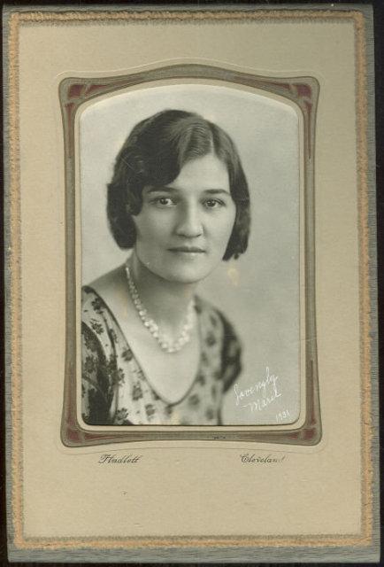 Framed Photograph Lovingly Marie 1931 Cleveland, Ohio