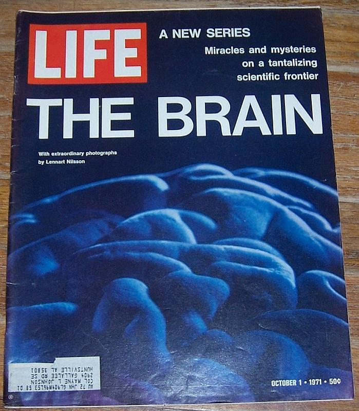 Life Magazine October 1, 1971 The Brain Cover/Attica/Erma Bombeck/Body Surfing