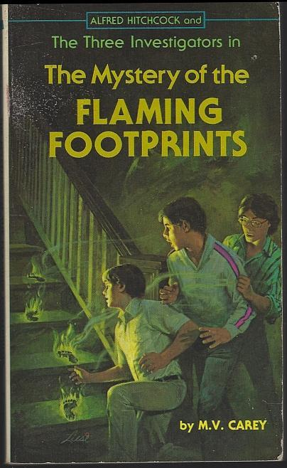 Alfred Hitchcock Three Investigators in the Mystery of the Flaming Footprints