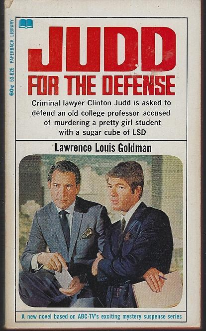 Judd for the Defense by Lawrence Louis Goldman 1968 Vintage Paperback TV Show
