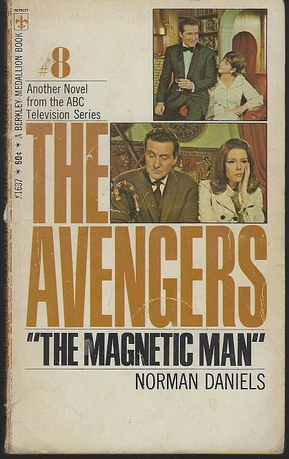 Magnetic Man The Avengers #8 by Norman Daniels 1968 1st edition Vintage Paper