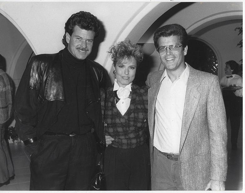 Original Photograph Jim Storm, Tracey Bregman and Ron Recht CBS Soap Operas 1988