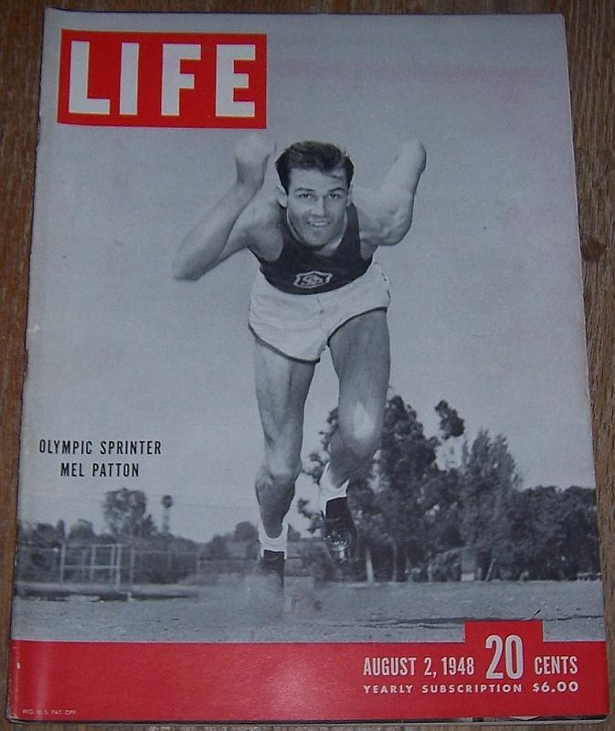 Life Magazine August 2, 1948 Olympic Sprinter Mel Patton Cover/Andes/Kinsey