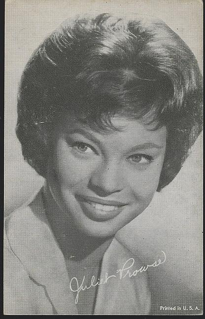 Vintage Arcade Card of Actress and Dancer Juliet Prowse