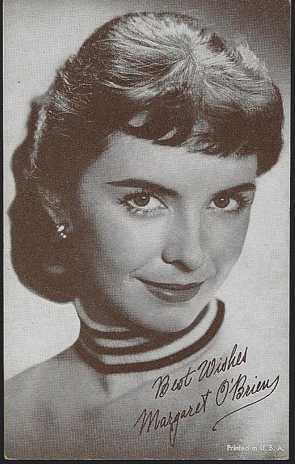Vintage Arcade Card of Actress Margaret O'Brien