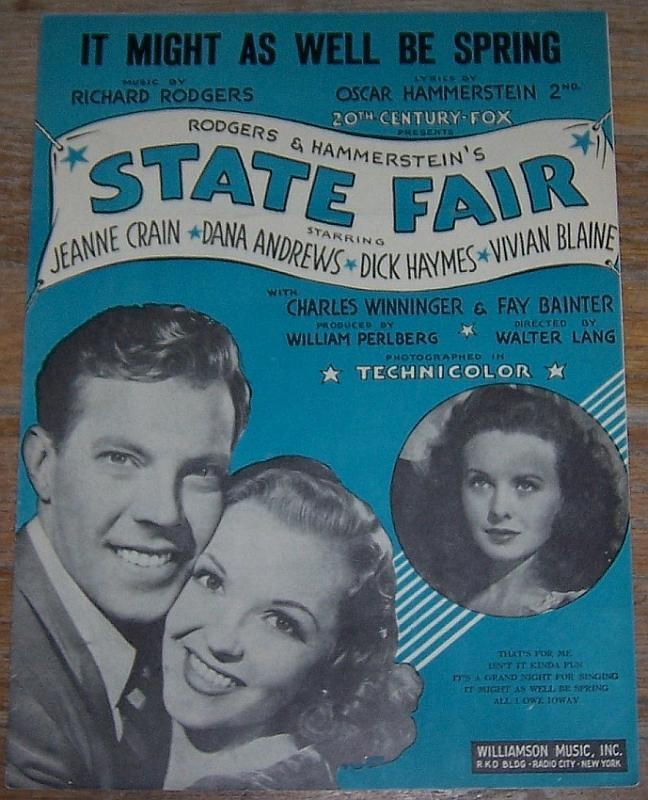 It Might As Well Be Spring From State Fair starring Jeanne Crain, Dana Andrews