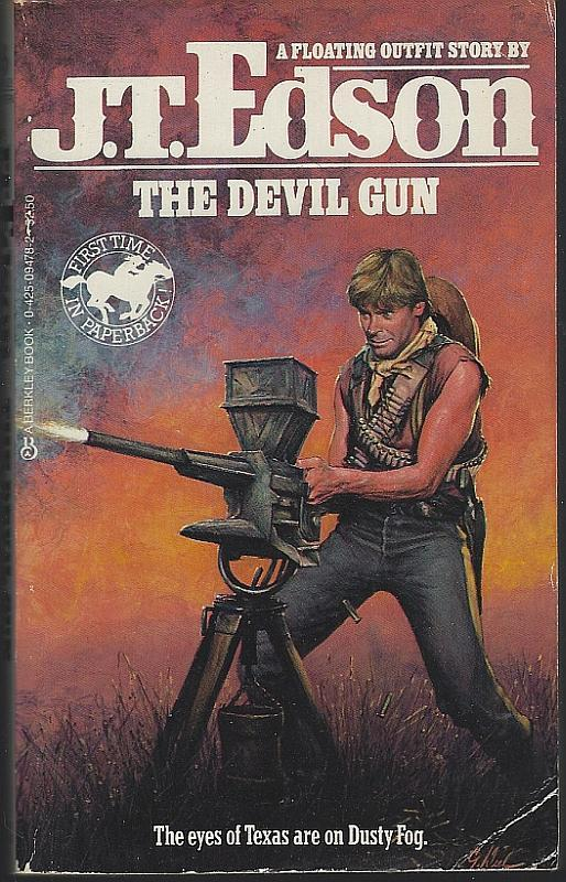 Lot of Two Floating Outfit Vintage Westerns by J. T. Edson Waco Debt/Devil Gun