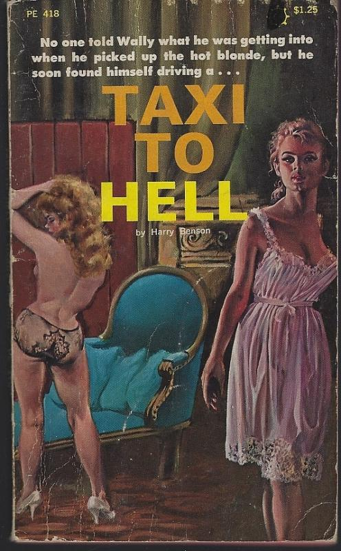 Taxi to Hell by Harry Benson 1967 Vintage Paperback