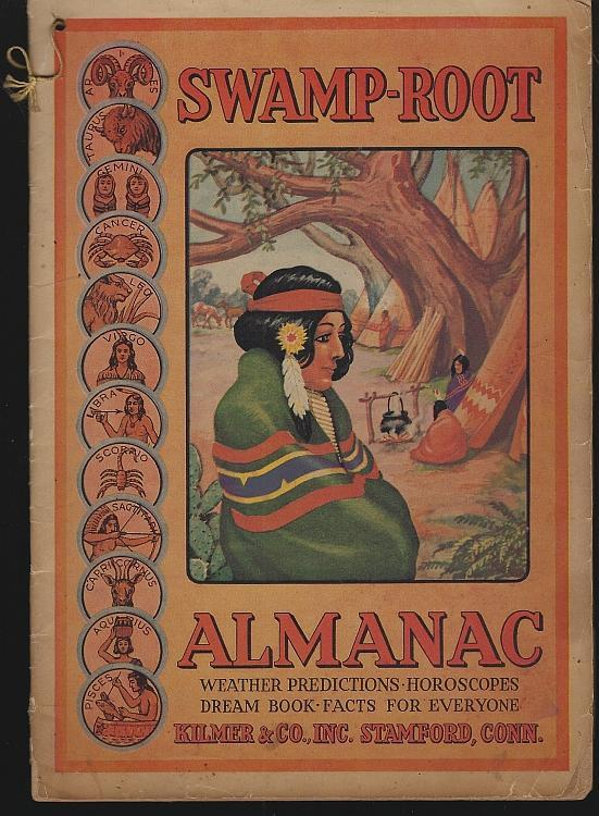 Swamp-Root Almanac 1943 Weather Predictions, Horoscopes, Dream Book, Facts