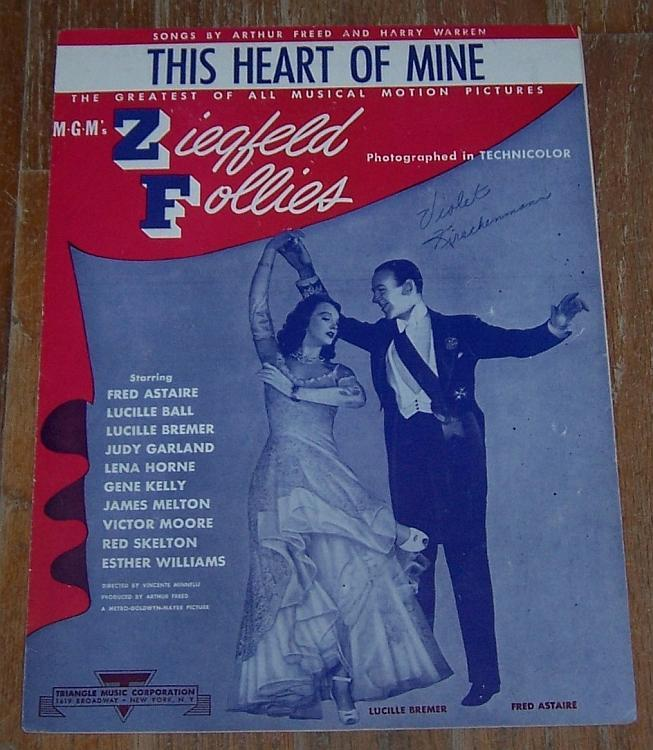 This Heart of Mine Fred Astaire/Lucille Bremer Ziegfeld Follies 1943 Sheet Music