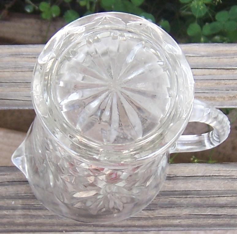 Vintage Anchor Hocking Clear Pressed Glass Pineapple Small Milk Pitcher/Creamer