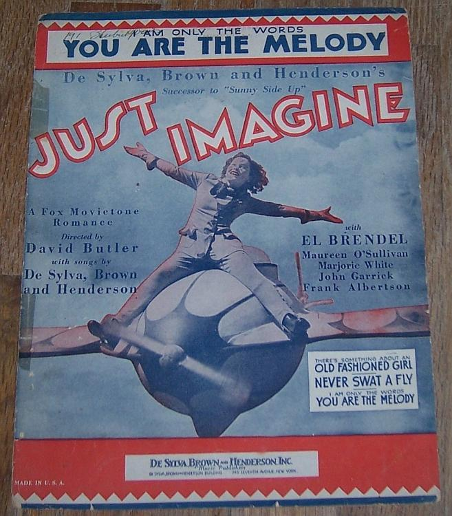 I Am Only the Words You Are the Melody Just Imagine Maureen O'Sullivan Music