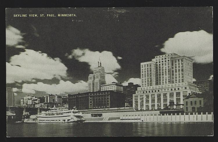 Vintage Unused Conoco Postcard of Skyline View of St. Paul, Minnesota