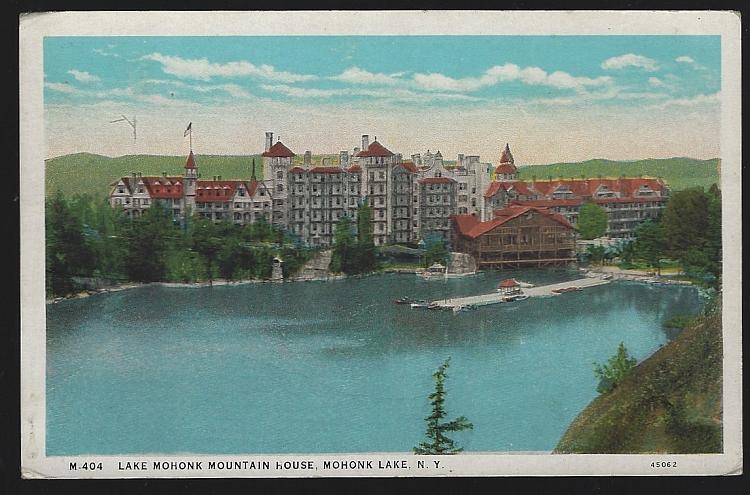 Vintage Postcard of Lake Mohonk Mountain House, Mohonk, Lake, New York