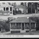 Vintage Unused Postcard Hinckley's Dream-Wood Cottages, Bar Harbor, Maine
