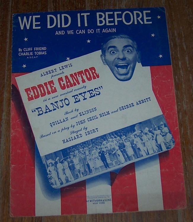 We Did It Before Sheet Music From Movie Banjo Eyes Starring Eddie Cantor 1941