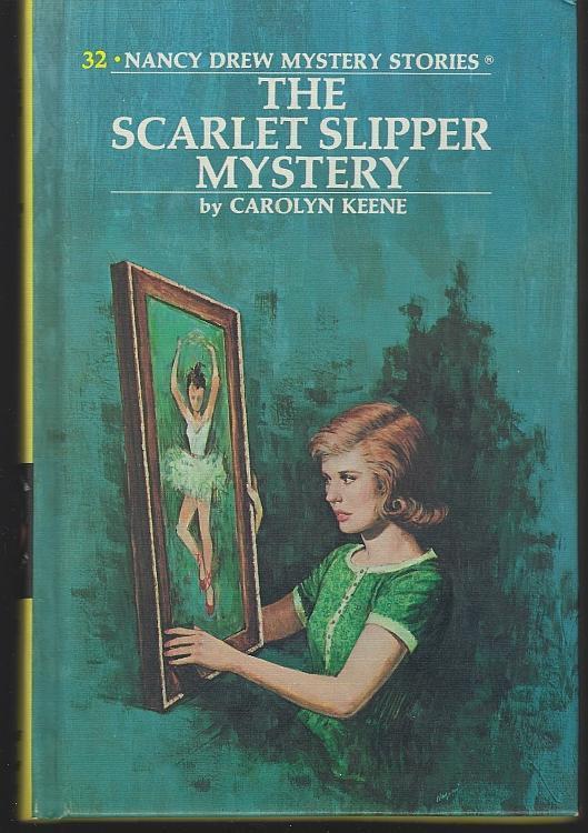 Scarlet Slipper Mystery by Carolyn Keene Nancy Drew #32 1974 Yellow Matte Cover