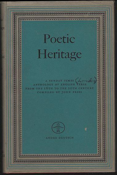 Poetic Heritage a Sunday Times Anthology of English Verse 16th-20th Century