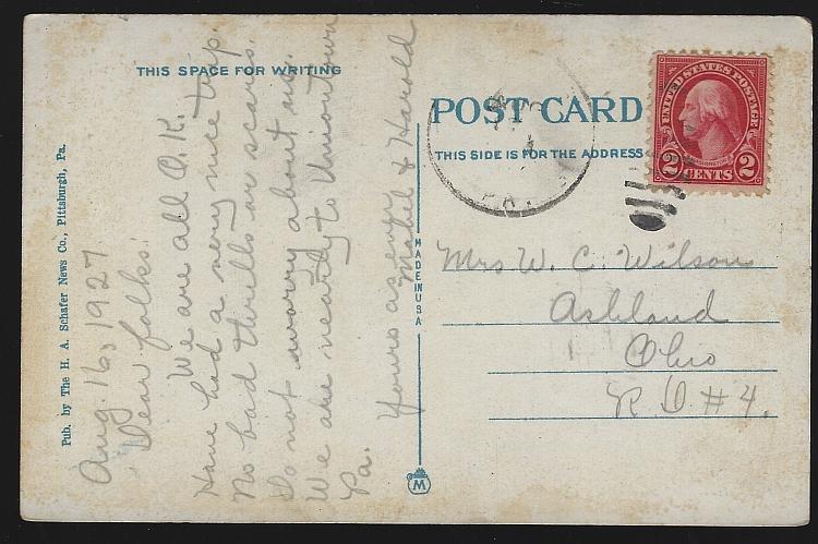 Postcard Gymnasium, Washington and Jefferson College, Washington, Pennsylvania