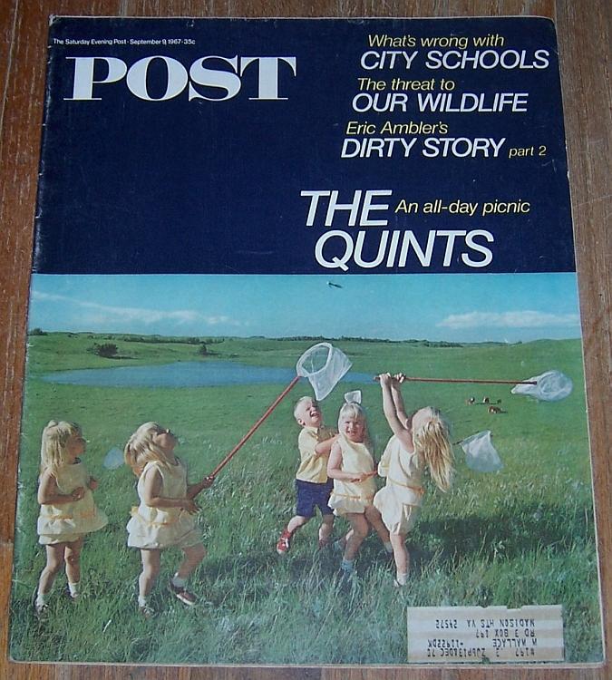 Saturday Evening Post Magazine September 9, 1967 Quints Cover/Wildlife/Schools