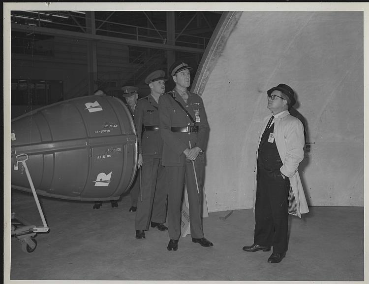 Original Photograph of Military Men Visiting Marshall Space Flight Center