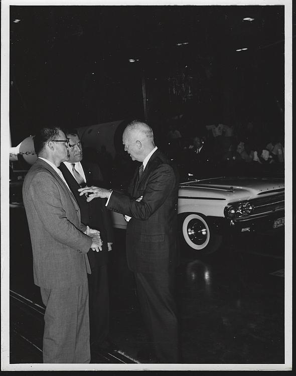 Original Photograph Wernher Von Braun/President Dwight Eisenhower Marshall