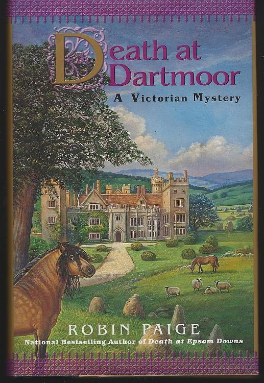 Death at Dartmoor by Robin Paige Victorian Cozy Mystery #8 2002 1st edition DJ