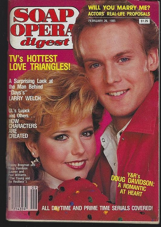 Soap Opera Digest February 26, 1985 Lauren/Paul Young and Restless/Grant Show