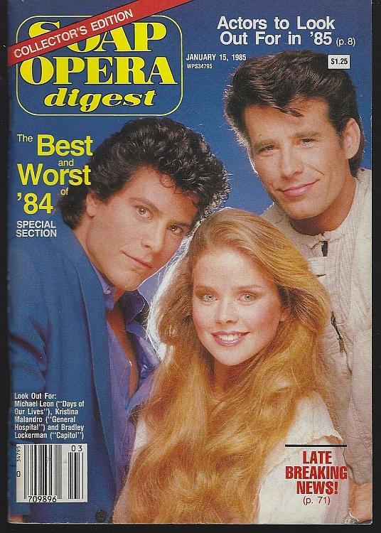 Soap Opera Digest January 15, 1985 Best and Worst of 1984/Next Year's Stars