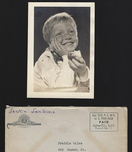 Vintage Original Studio Signed Photograph Butch Jackie Jenkins with Envelope