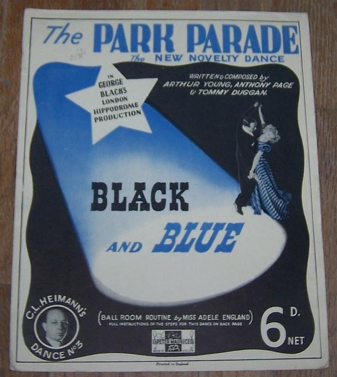Park Parade the New Novelty Dance From Black and Blue Instructions 1939 Music